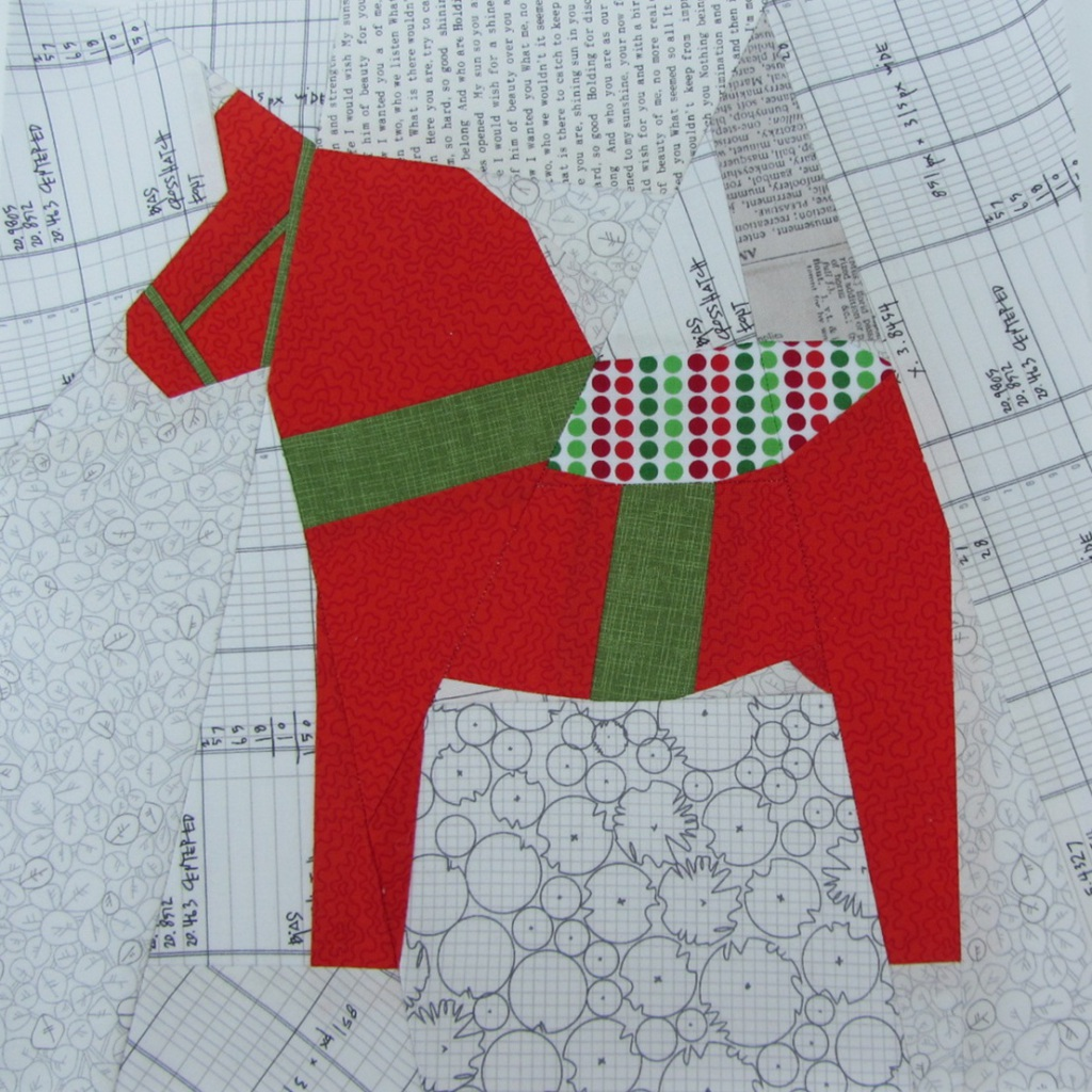 Dala Horse Paper Piecing