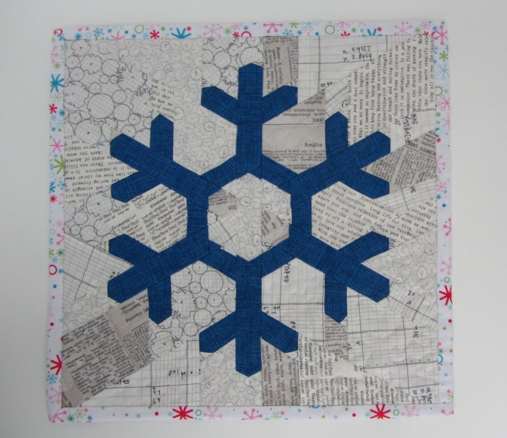 Schneeflocken-Miniquilt