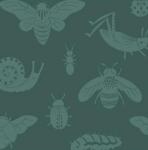Birch Fabris - Acorn Trail Canvas - Tonals Bugs Blue