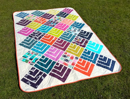 moderner Jelly on point quilt