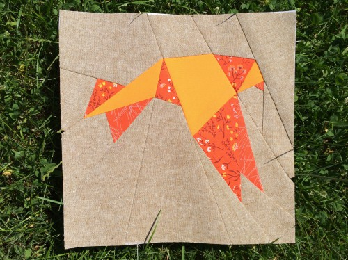 Origami Bird Paper Piecing Block