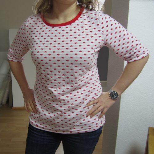 Albstoffe Herzenliebe Rot Shirt