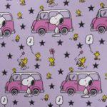 Biojersey Peanuts Snoopy und Minivan flieder